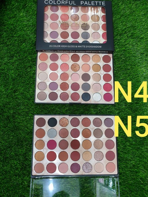 Miss Rose 35 Colors Pearly High Gloss & Matte Eyeshadow Palett
