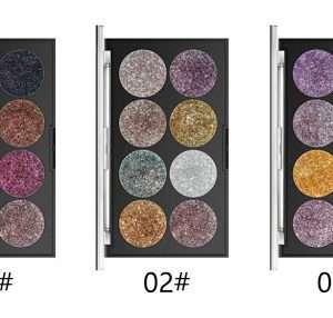 Miss Rose 8 Color Glitter Palette
