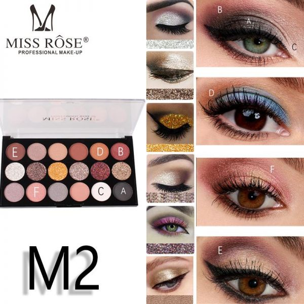 miss rose 12 color eye shadow 6 color glitter 1