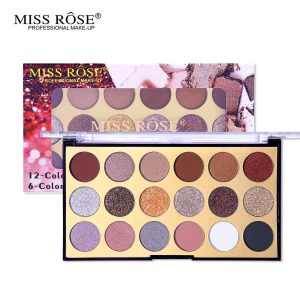 miss rose 12 color eye shadow 6 color glitter 2