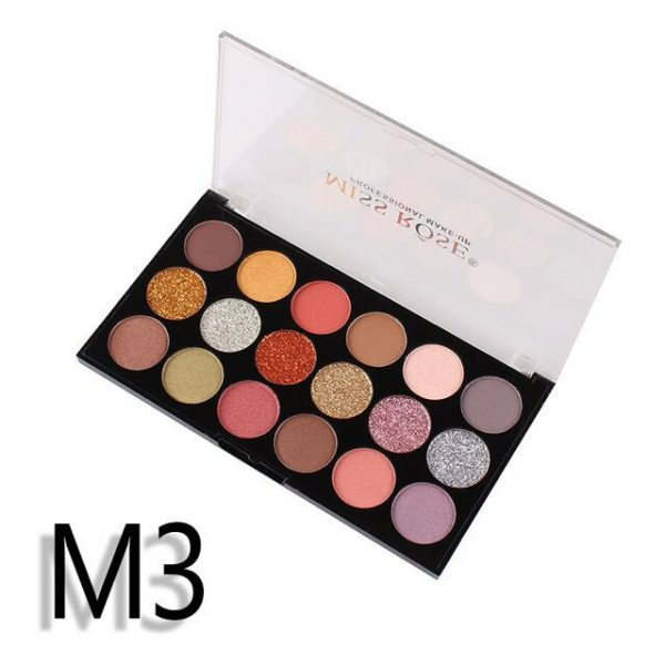 miss rose 12 color eye shadow 6 color glitter 3