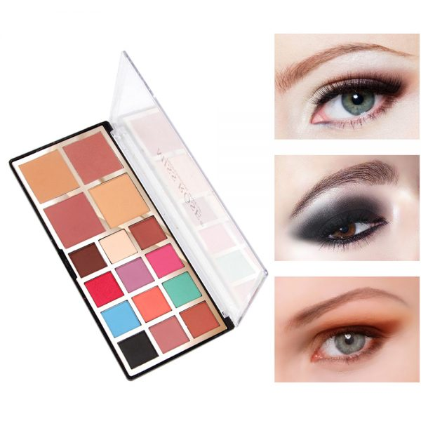 miss rose 12 color eye shadow 2 color blush 2 color powder
