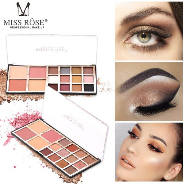 miss rose 12 colro eye shadow 2 color blush 2 color powder 2