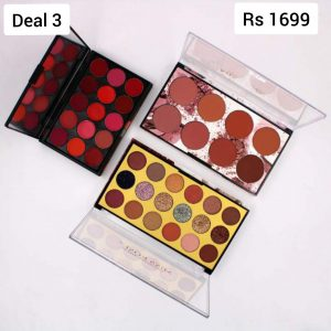 Miss Rose - Deal 3 Miss Rose Lip Cream Palette Miss Rose 8 Color Blush Palette Miss Rose 18 Colors Matte + Glitter + Shimmer Eyeshadow Palette