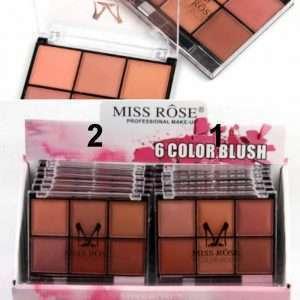 miss rose 6 color blush